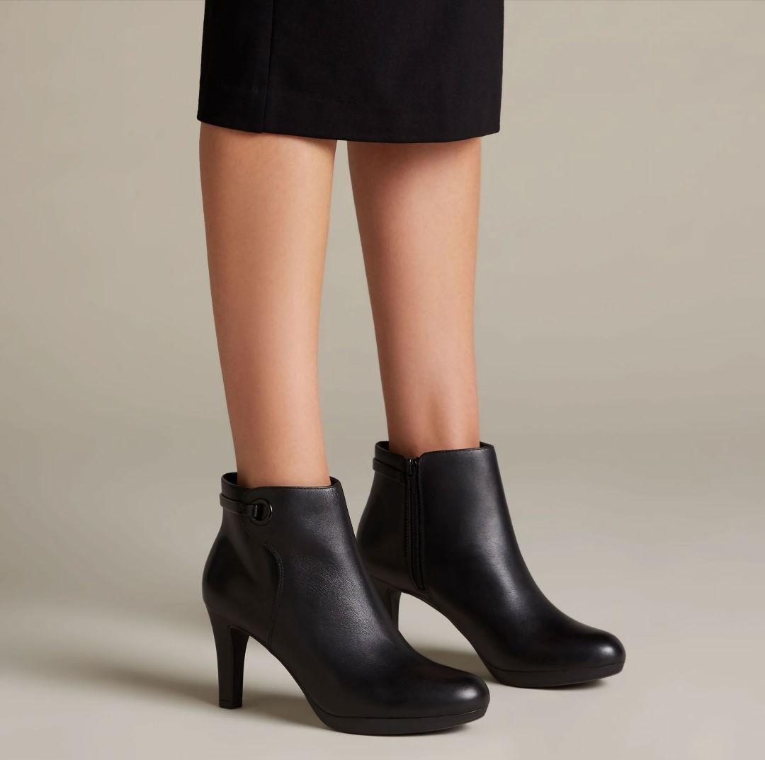Clarks Adriel Mae 26144417 black leather