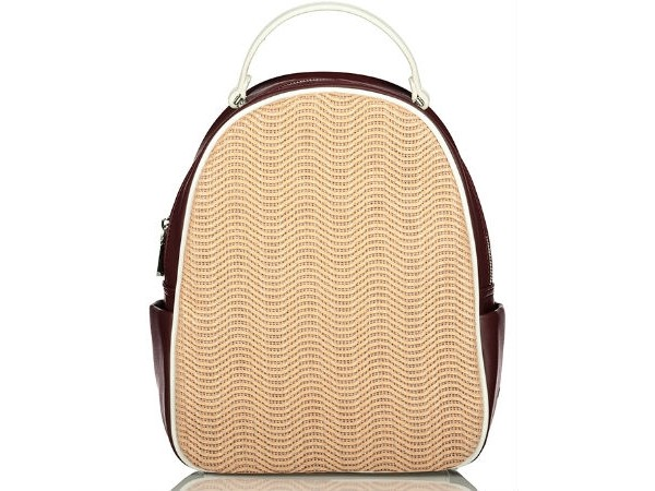 d7fa960433 Axel Tammie backpack whit knit design 1023-0138 nude