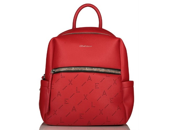 9953275170 Axel Shonda backpack with zippers 1023-0145 red