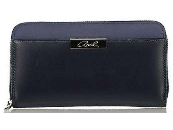 Axel Cerise wallet solid color 1101-1140 dark blue
