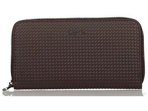 Axel Corine solid wallet with knit texture 1101-1148 brown