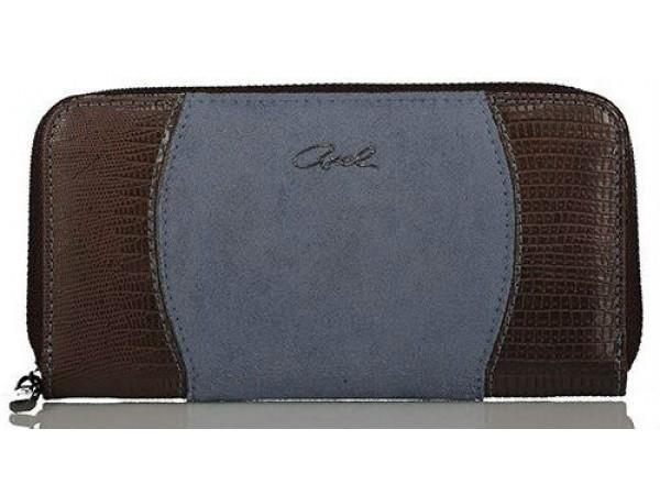 Axel Marina wallet with zipper closing 1101-1154 dusty blue
