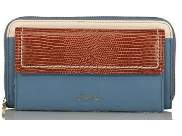 Axel Kristen wallet with flap closing 1101-1218 blue