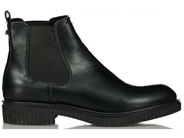 Axel Flat short boots with elastic on side 1216-0066 003 black