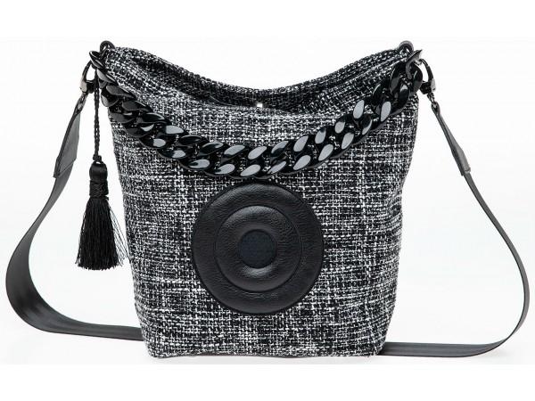 Christina Malle Tweed Hobo black/white