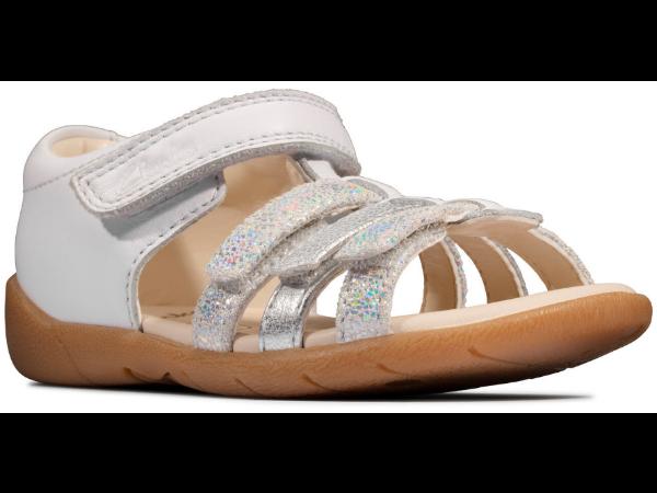 Clarks Zora spark T 26150536 white leather