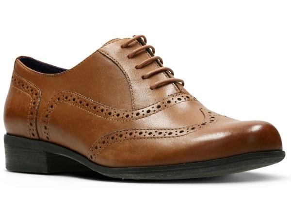 Clarks Hamble Oak 20350674 dark tan leather