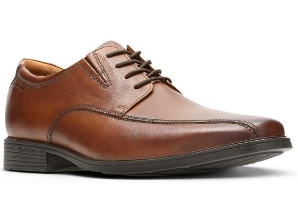 Clarks Tilden Walk 26130095 dark tan leather