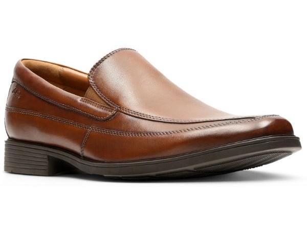 Clarks Tilden Free 26130098 dark tan leather