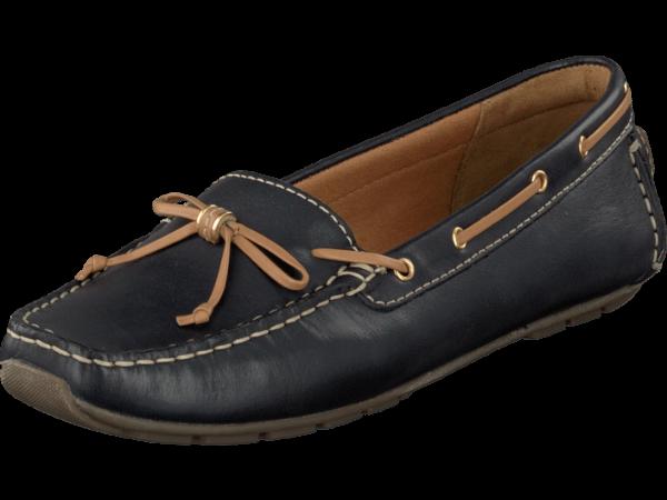 Clarks Dunbar Groove navy leather