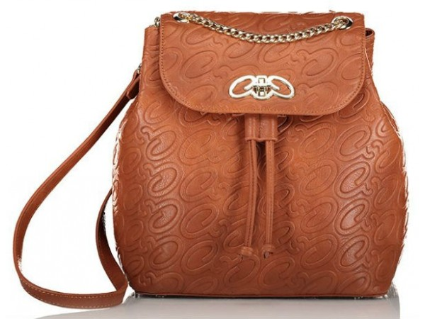 Axel Alena backpack embossed axel monograms chain 025 1023-0246 camel
