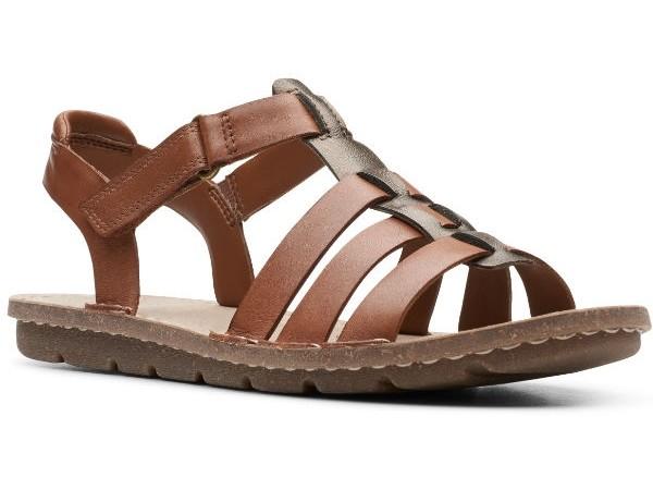Clarks Blake Jewel 26148252 dark tan leather combi