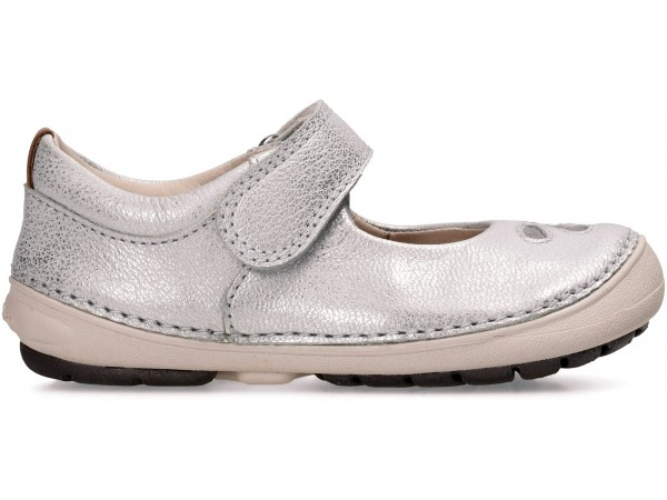 Clarks Softly Eden silver leather 26133435