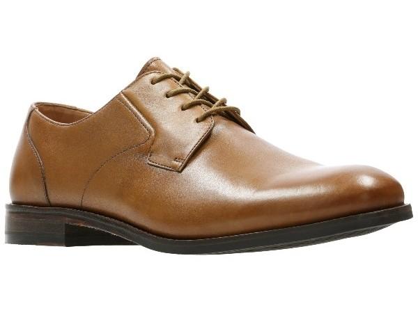 Clarks Edward Plain tan leather 26139536