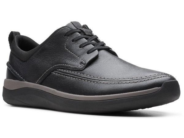 Clarks Garratt Street  26148761 black leather