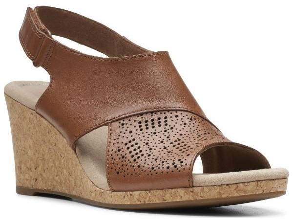 Clarks Lafley Joy 26148350 tan leather