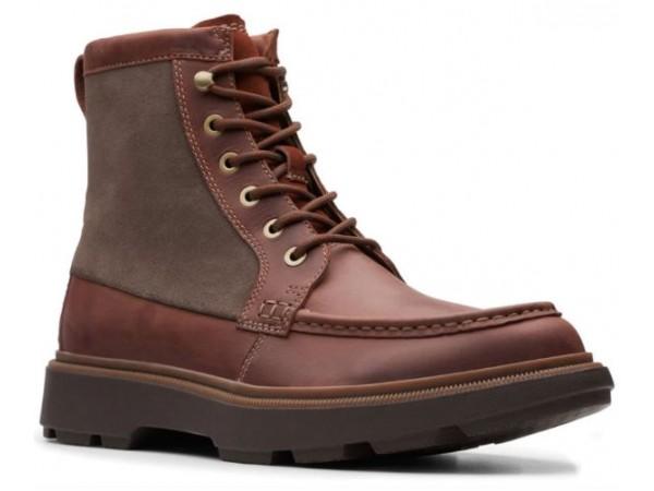 Clarks Dempsey Peak 26145687 mahogany leather
