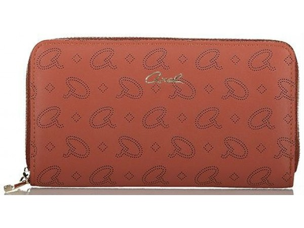 Axel Alder wallet with axel laser logo 1101-1279 571 red wood
