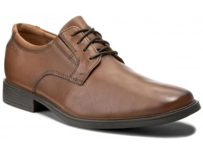 Clarks Tilden Plain 26130097 dark tan leather
