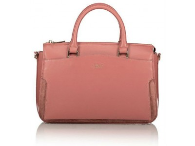 Axel Zoe handbag with long adjustable strap 1010-2275 pink carnation
