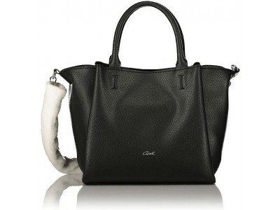 Axel bag Penelope with removable synthetic fur on strap 1010-2327 black