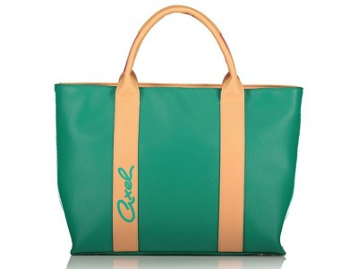 Axel Elma bag with webbing detail 1010-2394 emerald