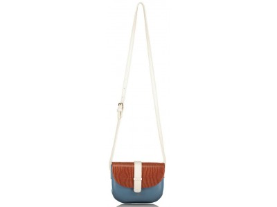 Axel Kristen bag with flap and adjustable long strap 1020-0387 blue