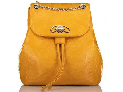 Axel Leoni backpack flap chain detail 1023-0211 yellow
