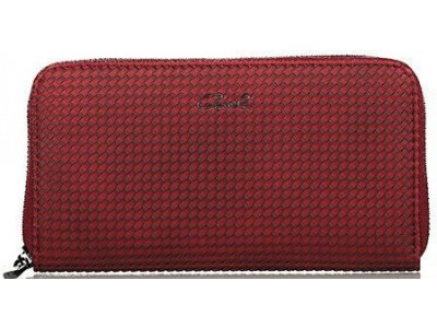 Axel Corine solid wallet with knit texture 1101-1148 red