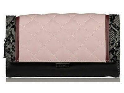 Axel Karen wallet with stiching pattern 1101-1152 dusty lilac