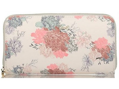Axel Garden flowers zip wallet 1101-1199 white