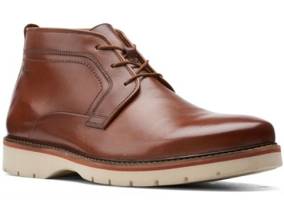 Clarks Bayhill Mid 26153523 dark tan leather