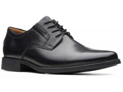 Clarks Tilden Plain black leather 26110350