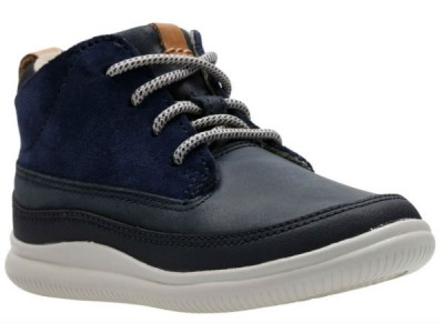 Clarks Cloud Air T 26141562 navy leather