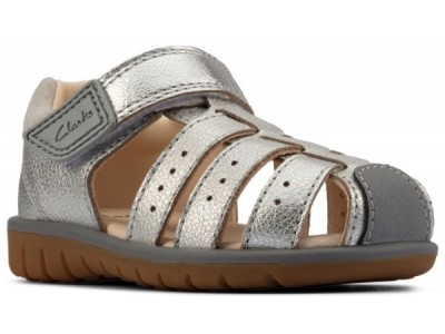 Clarks Roam Bay T 26158030 silver leather