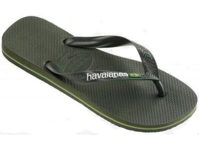 Havaianas Brasil Logo 4110850.4896.M18 green olive