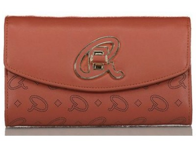 Axel Alder flap wallet A logo closing 1101-1241 571 red wood
