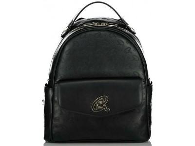 Axel Alder zip backpack front flap pocket 1023-0234 003 black