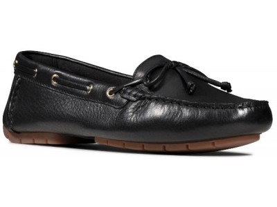 Clarks C Mocc Boat 26149270 black leather