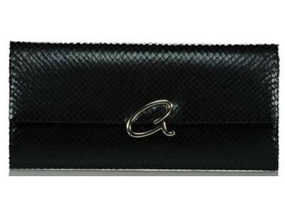 Axel Capella envelope bag with snake texture 1005-1216 003 black