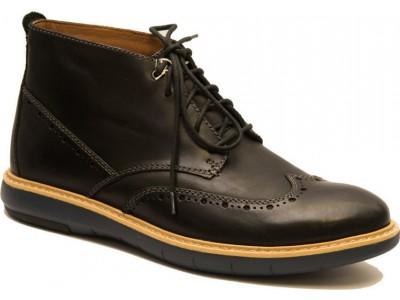 Clarks Flexton Μid black leather 26119327