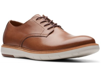 Clarks Draper Lace 26149634 tan leather