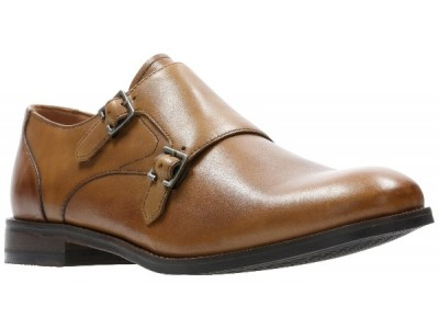 Clarks Edward Monk tan leather 26139552