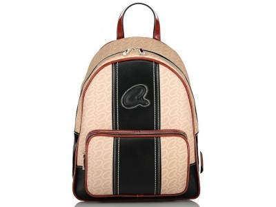 Axel Fern backpack front zip pocket 1023-0253 001 beige