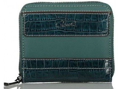 Axel Feronia mini wallet croc details 1101-1251 010 petrol