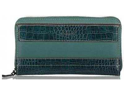 Axel Feronia zip around wallet croc detail 1101-1249 010 petrol