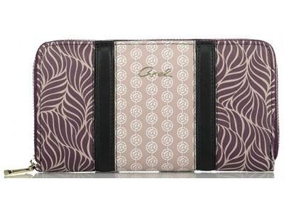 Axel Fluer zip wallet various prints 1101-1297 031 purple