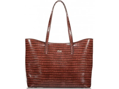 Axel Ivy croc shopper bag 1010-2447 016 brown