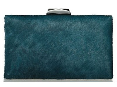 Axel Mira pony hair clutch 010 1005-1228 010 petrol