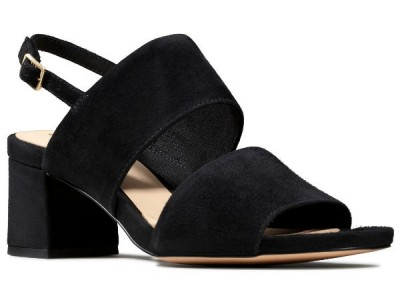 Clarks Sheer55 Sling 26148880 black suede